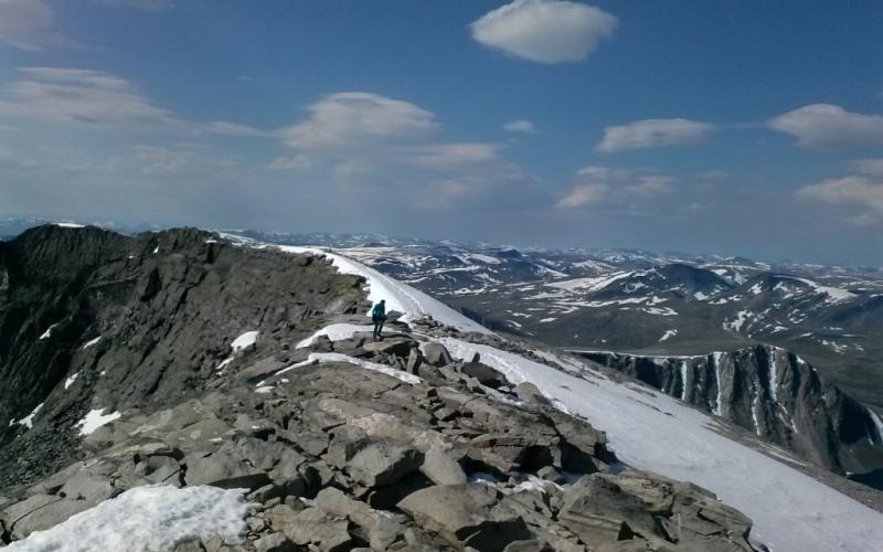 Nådde toppen av  Snøhetta